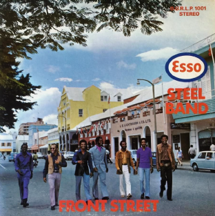 Esso Steel Band ‎- Front Street (LP) (G++/VG-)